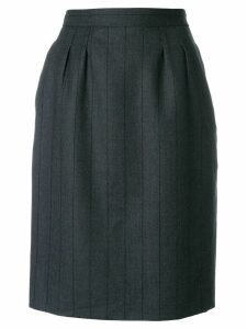 Yves Saint Laurent Pre-Owned tonal stripe straight skirt - Grey