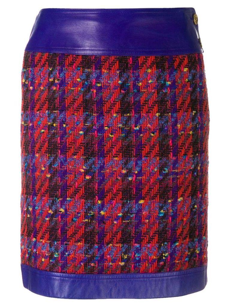 Chanel Vintage tweed straight skirt - Red