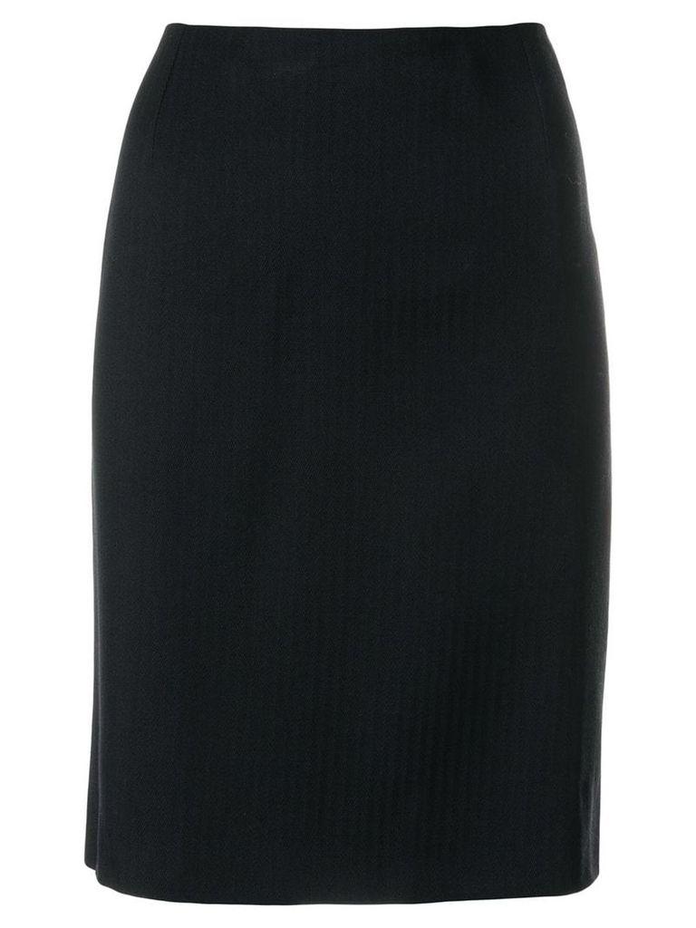 Versace Vintage straight classic skirt - Black