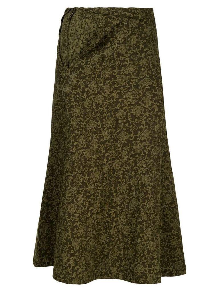 Comme Des Garçons Vintage tapestry print skirt - Green