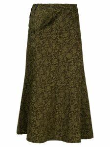 COMME DES GARÇONS PRE-OWNED tapestry print skirt - Green