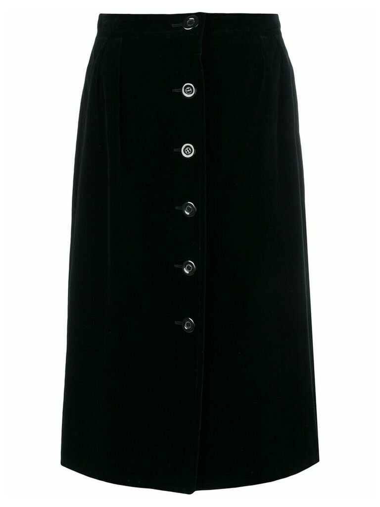 Emanuel Ungaro Vintage velvet midi skirt - Black