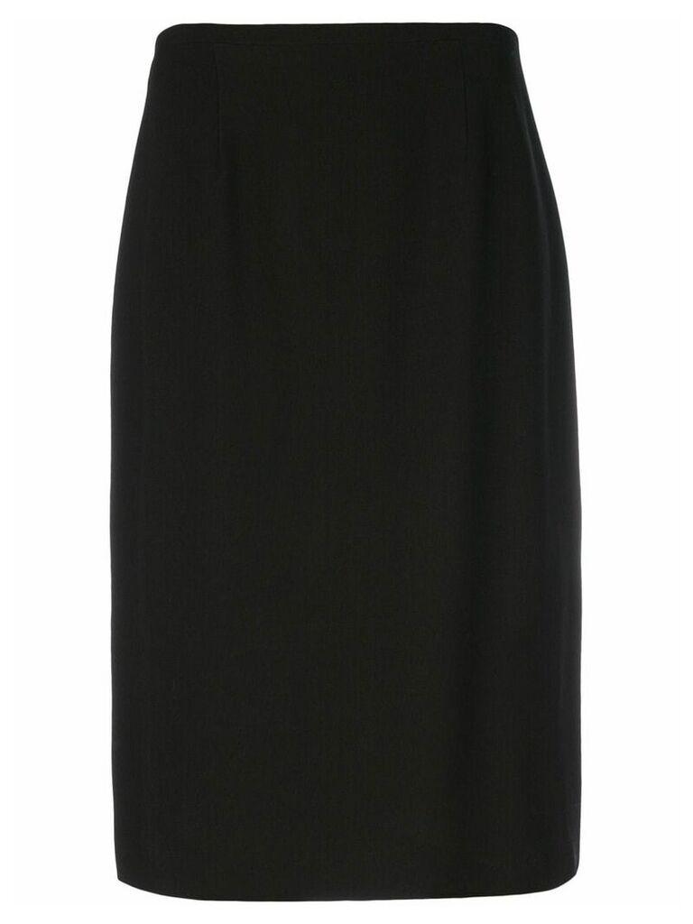 Jean Louis Scherrer Vintage straight fit skirt - Brown