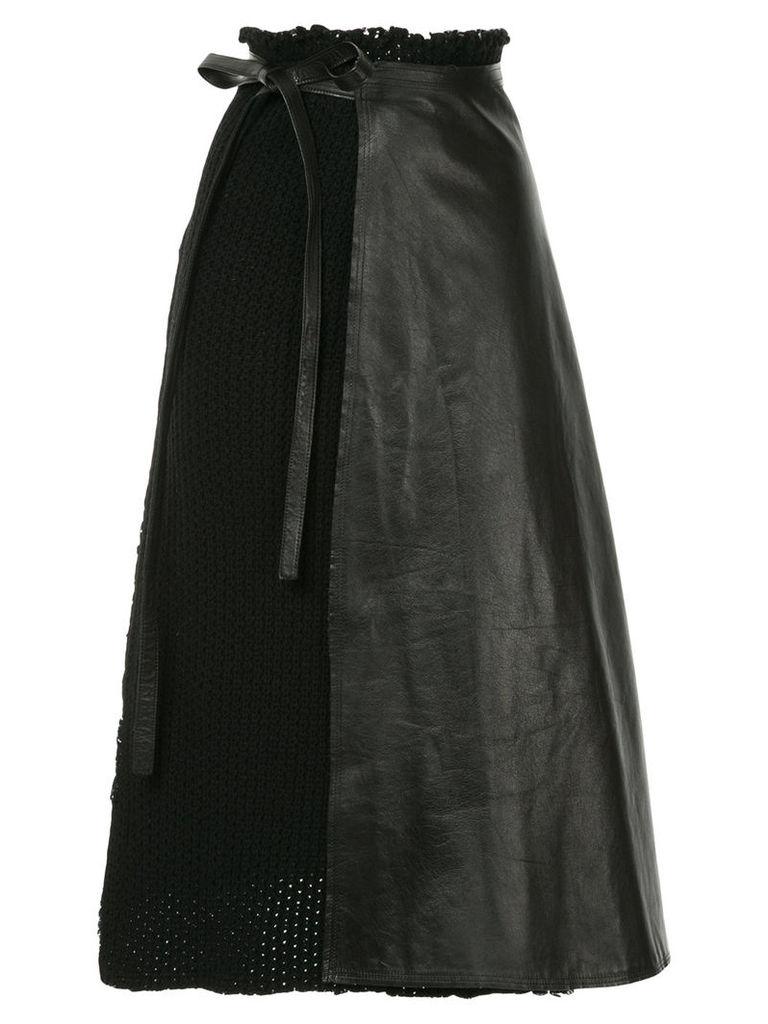 Comme Des Garçons Vintage wrapped A-line skirt - Black