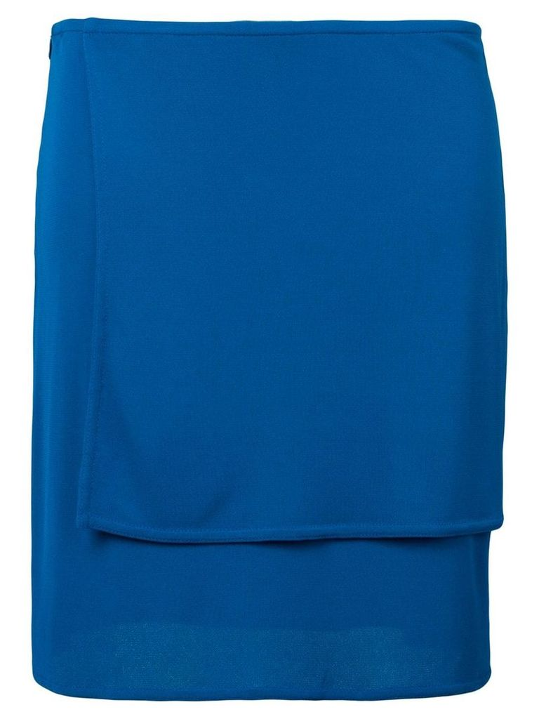 Versace Vintage double-layer skirt - Blue