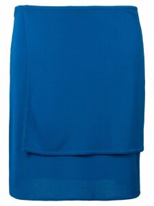 Versace Pre-Owned double-layer skirt - Blue