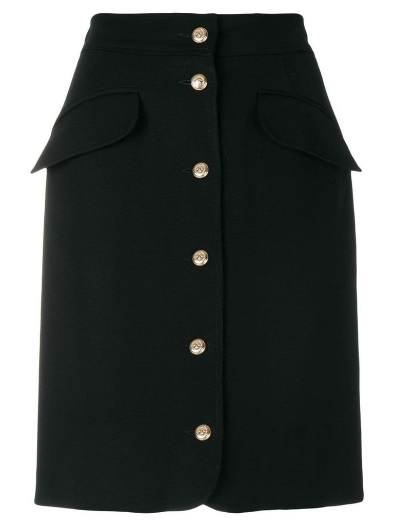 Moschino Vintage buttoned skirt - Black
