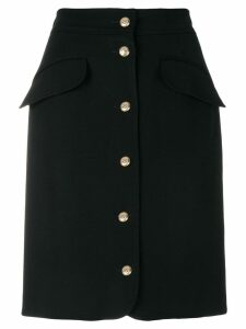 Moschino Pre-Owned buttoned skirt - Black