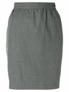 Emanuel Ungaro Pre-Owned micro check-print pencil skirt - Black