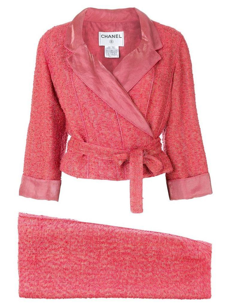 Chanel Vintage 1999 tweed skirt suit - Pink