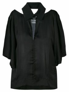 Chanel Pre-Owned 2000 cut-out collared blouse - Black