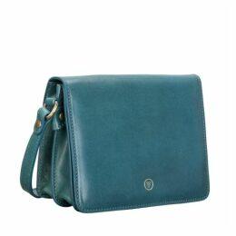 Maxwell Scott Bags Sleek Women S Petrol Leather Cross Body Bag
