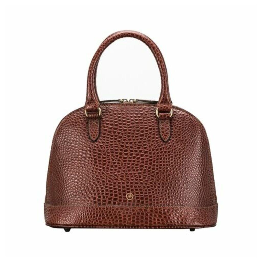 Maxwell Scott Bags Luxury Faux Crocodile Women S Leather Tote Bag In Tan