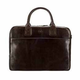 Maxwell Scott Bags Chocolate Leather Business Bag For Macbook