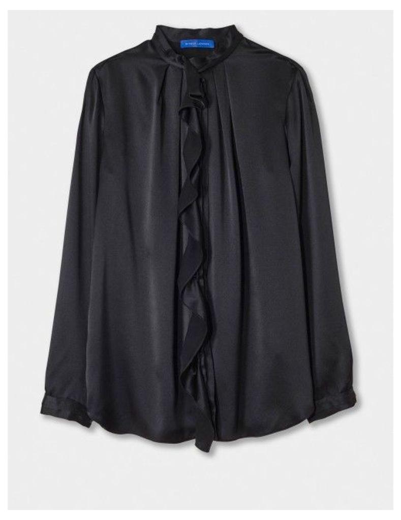 Winser London Silk Ruffle Shirt