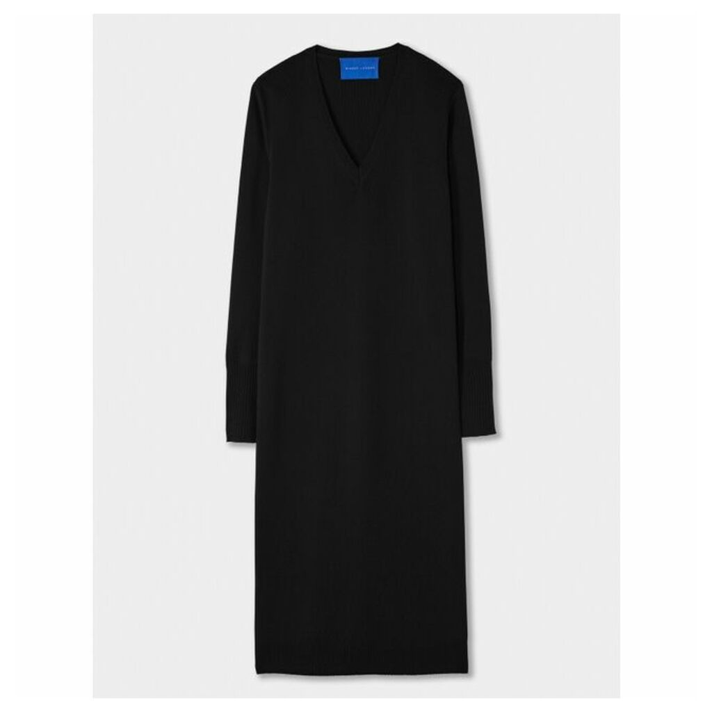 Winser London Merino V Neck Dress