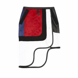 Jamie Wei Huang Altan Pencil Skirt With Wave Hem Black-white