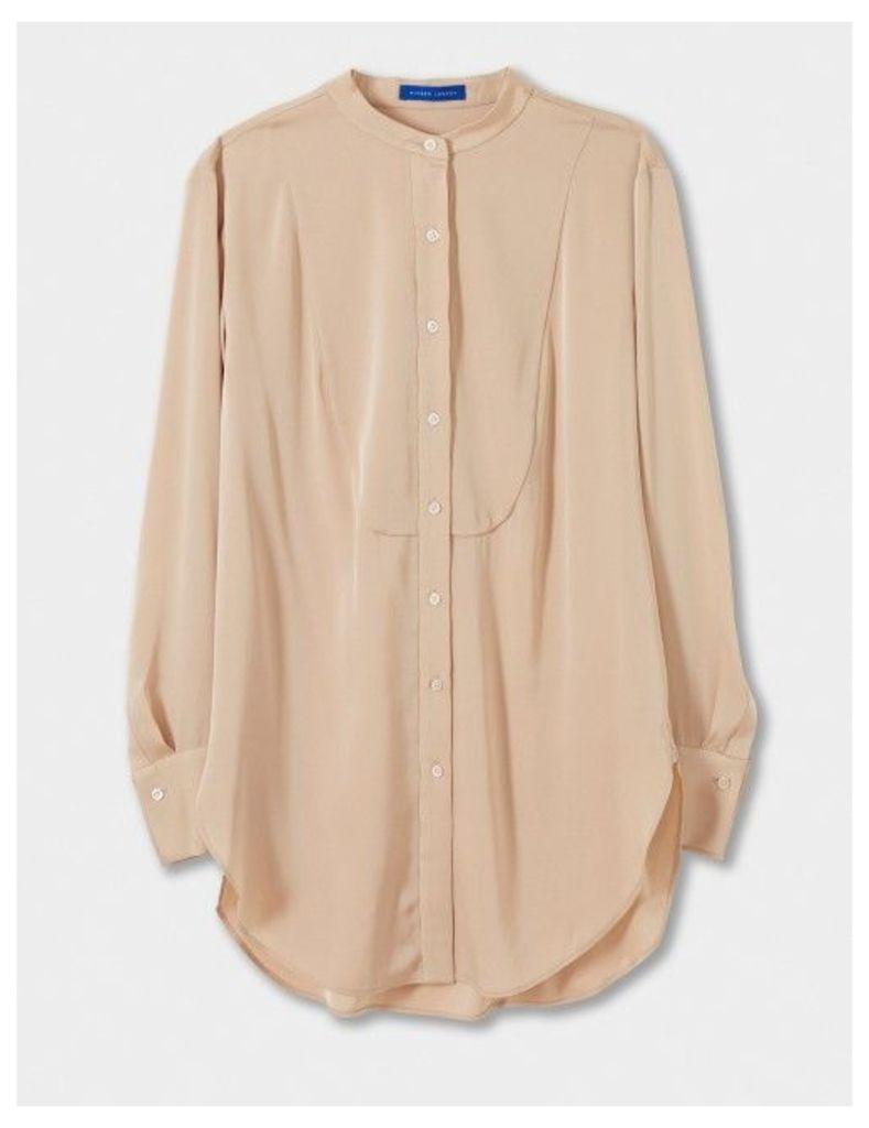 Winser London Silk Long Sleeve Tunic Top