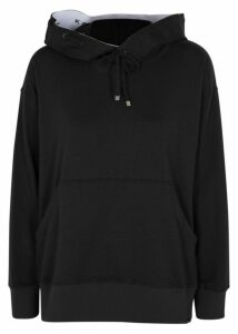 Koral Activewear Spry Black Jersey Hooded Sweatshirt