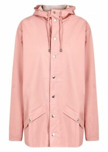 Rains Light Pink Rubberised Raincoat