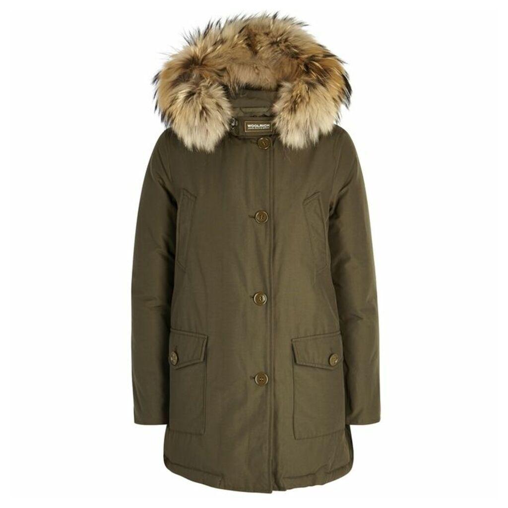 Woolrich Arctic Fur-trimmed Cotton Blend Parka