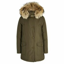 Woolrich Arctic Fur-trimmed Cotton Blend Parka