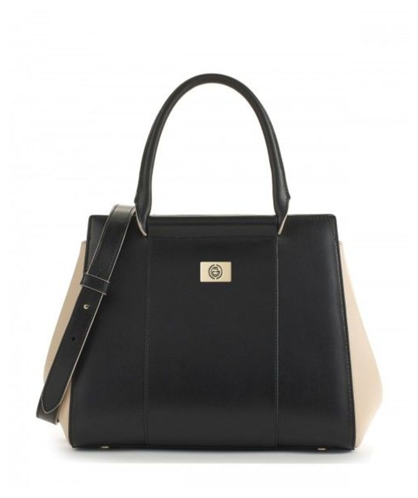 Gianoi Nadia Medium Two-tone Leather Bag