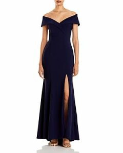 Aqua Off-the-Shoulder Gown - 100% Exclusive