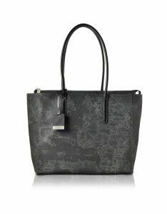Alviero Martini 1A Classe Designer Handbags, Large Geo Black Tote