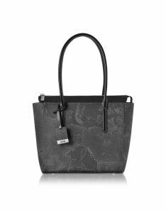 Alviero Martini 1A Classe Designer Handbags, Medium Geo Black Tote