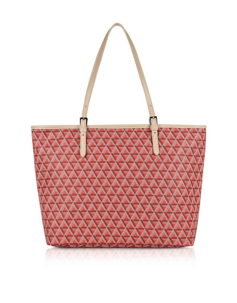 Lancaster Paris Designer Handbags, Ikon Large Coated Canvas Tote Bag