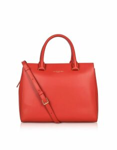 Lancaster Paris Designer Handbags, Camelia Smooth Leather Top Handle Satchel Bag