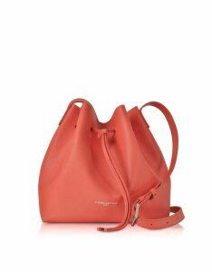 Lancaster Paris Designer Handbags, Pur Saffiano Leather Bucket Bag