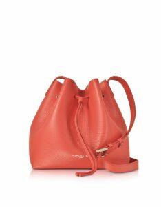 Lancaster Paris Designer Handbags, Pur & Element Foulonné Leather Bucket Bag