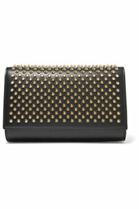 Christian Louboutin - Paloma Spiked Leather Clutch - Black