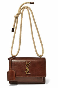 SAINT LAURENT - Sunset Small Textured-leather Shoulder Bag - Brown