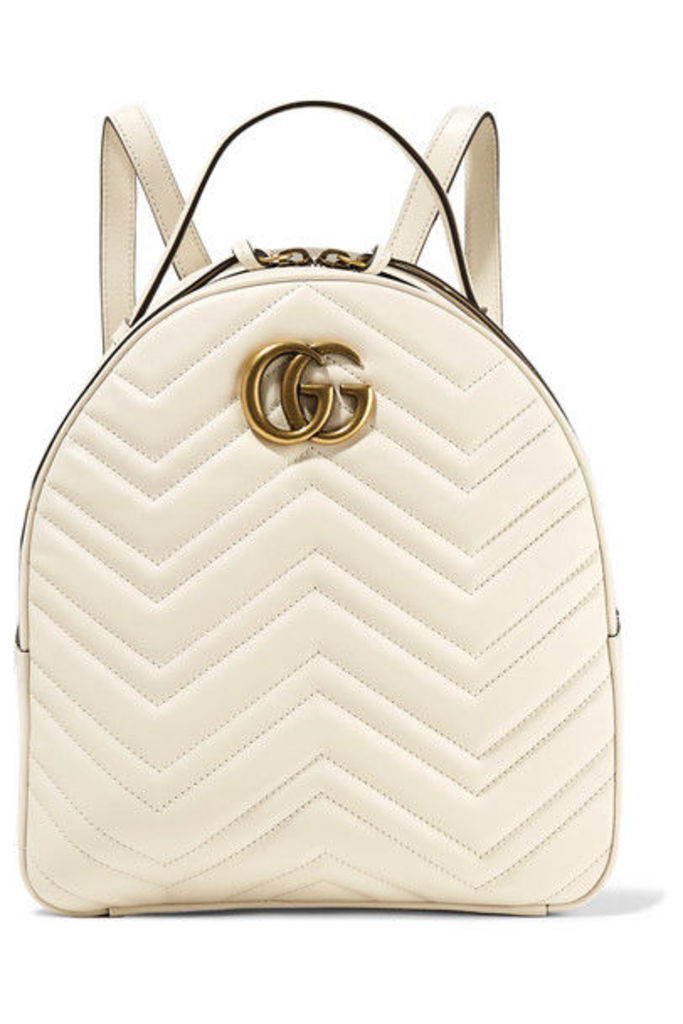 Gucci - Gg Marmont Quilted Leather Backpack - Ivory