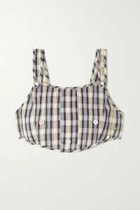 Prada - Pleated Printed Dégradé Silk Crepe De Chine Midi Dress - Purple