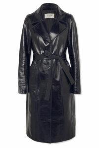 Yves Salomon - Patent-leather Coat - Midnight blue