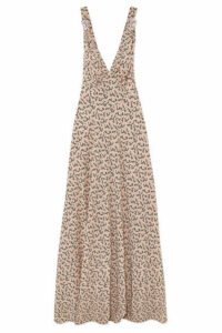 Prada - Floral-print Silk Crepe De Chine Gown - Pastel pink