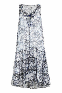 See by Chlo © Flower Python Printed Dress in Cotton and Silk