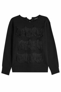 Marc Jacobs Cotton Sweatshirt with Fringe