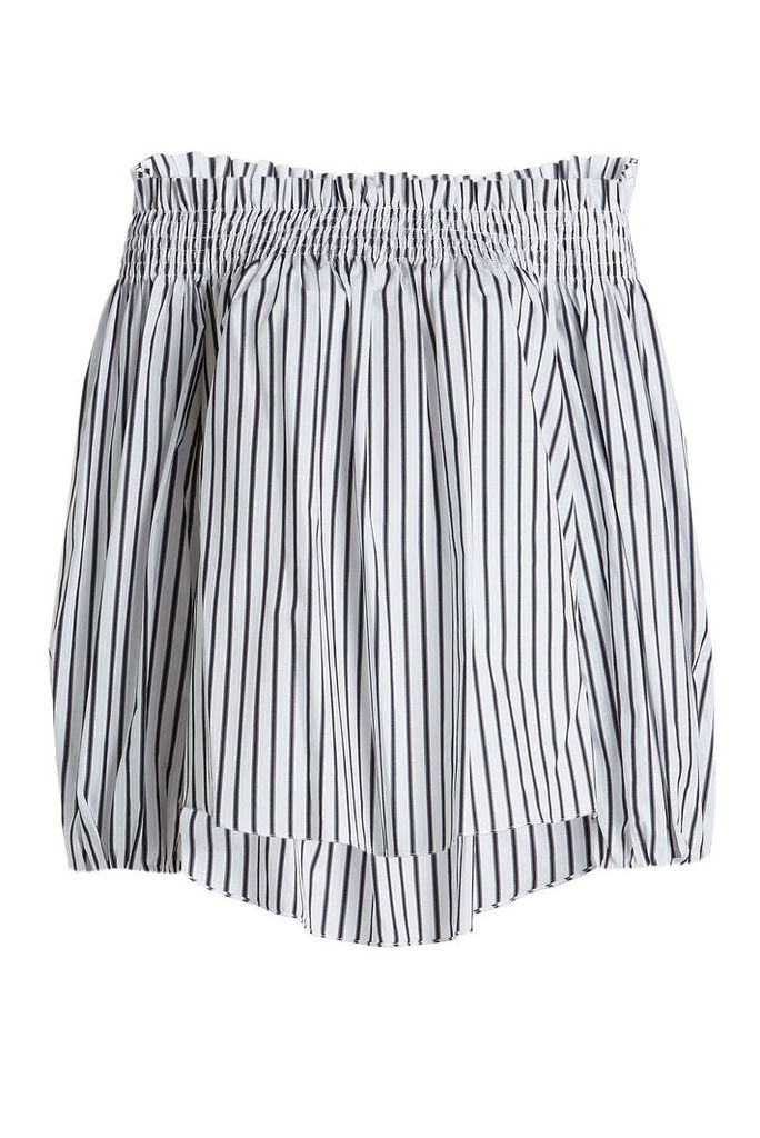 Caroline Constas Lou Striped Cotton Blouse
