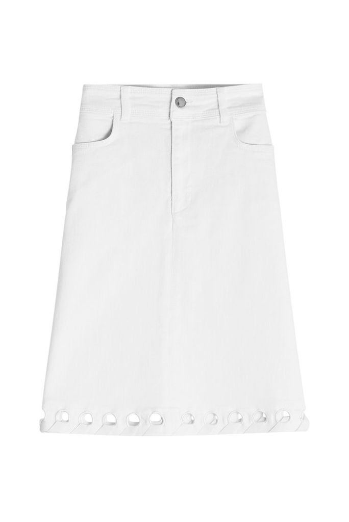 Victoria Victoria Beckham Denim Skirt with Cut-Out Detail
