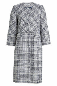 Rosetta Getty Cropped Sleeve Coat with Cotton and Virgin Wool