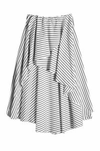 Caroline Constas Adelle Striped Cotton Skirt