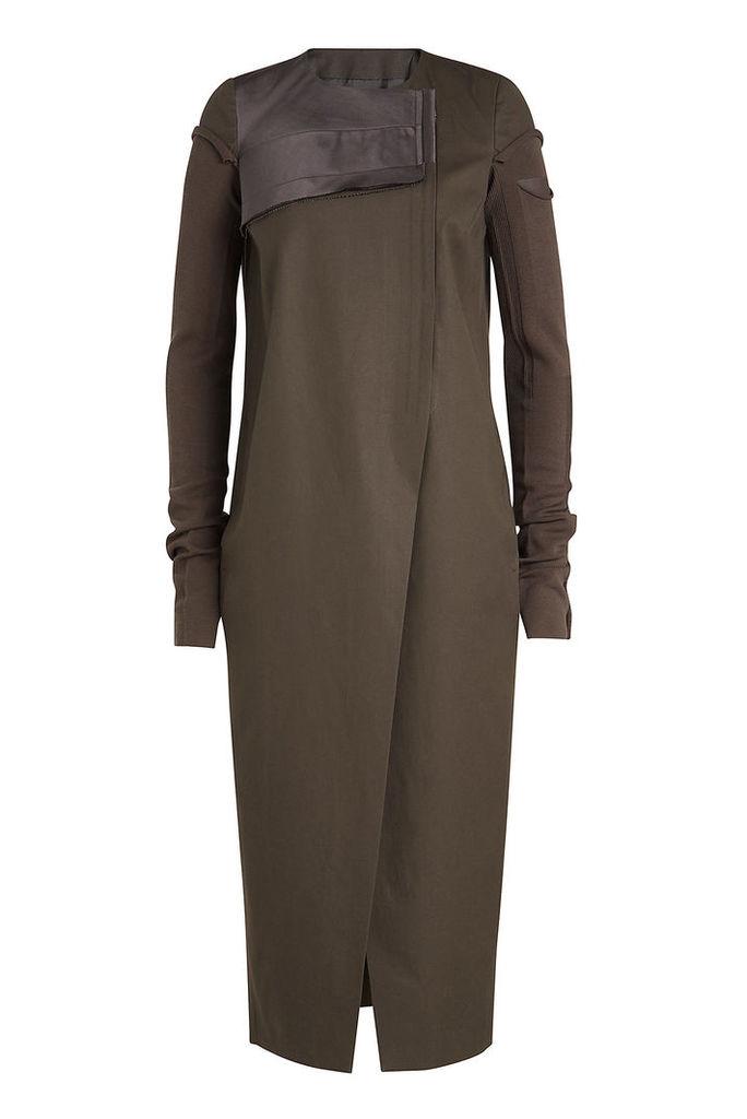 Rick Owens Asymmetric Cotton Coat