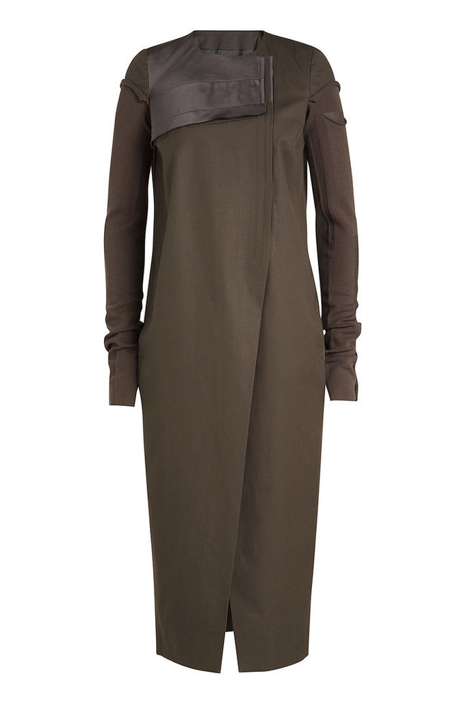 Rick Owens Asymmetric Cotton Coat