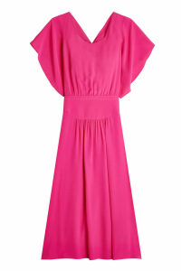 N °21 Draped Dress with Silk