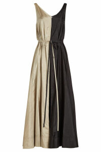 Nina Ricci Two-Tone Dress with Silk